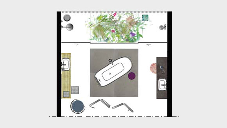 Badideen Wohnbereich Und Badezimmer Verschmelzen Hansgrohe De