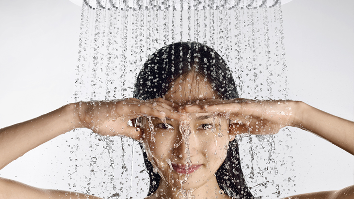The Hansgrohe XXL Performance offers ultimate showering pleasure. Intelligent water efficiency included!