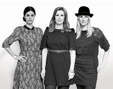 Charlotte von der Lancken, Anna Lindgren and Sofia Lagerquist (left to right) make up the designer trio Front.