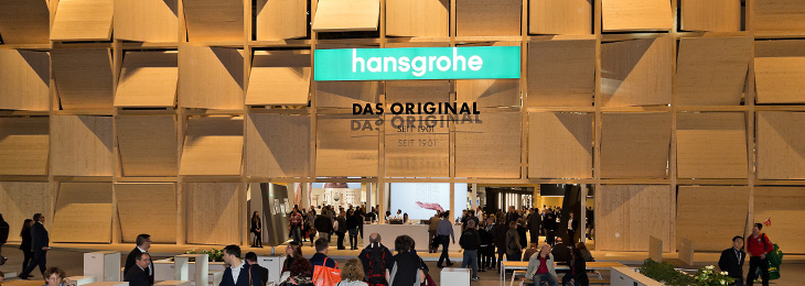 Hansgrohe live and in colour. Come and visit us at the trade fair stand – we look forward to seeing you.