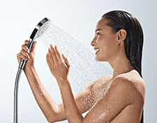 Man with Hansgrohe hand shower