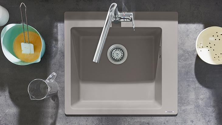 Grey Granite Built In Sink