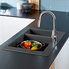 Hansgrohe granite sinks.
