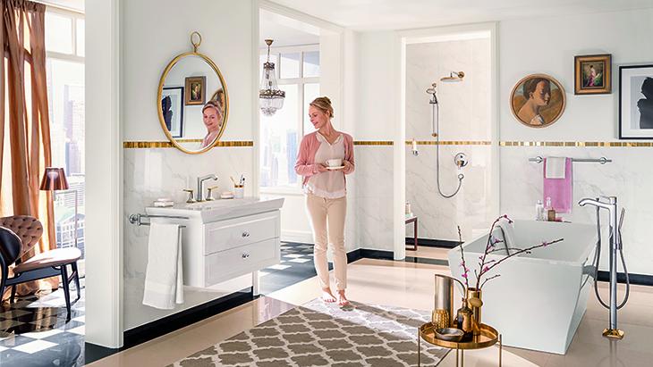 Klassische Badezimmer mit stilvollen Armaturen | Hansgrohe DE