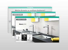 Screenshots von Hansgrohe Online-Tools