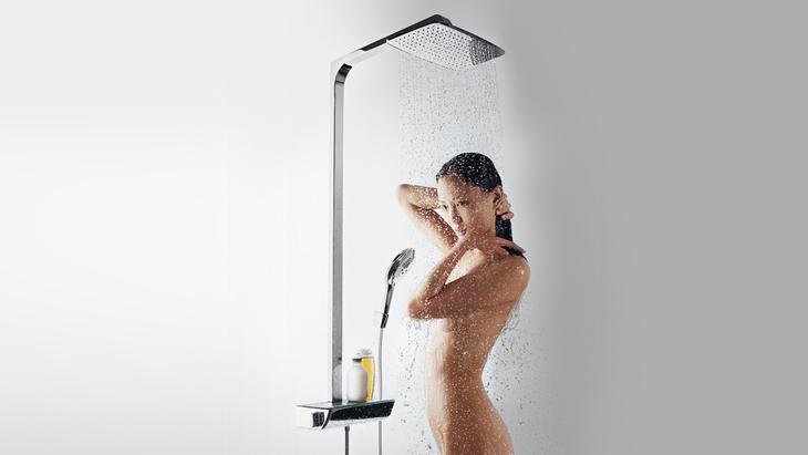 raindance select e 360 shower pipe