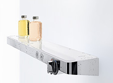 Hansgrohe Select shower control systems.