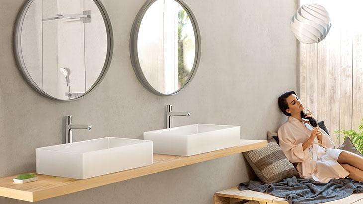 Moderne Badezimmer, Armaturen, Auslaufhöhen | Hansgrohe DE