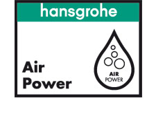 El logotipo AirPower de Hansgrohe