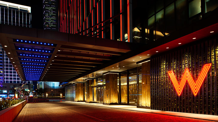 External view showing the entrance of the W Taipei Hotel. & Boutique hotel W Taipei | Hansgrohe INT