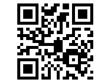 QR code for the website of the Hansgrohe's mobile savings calculator.