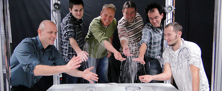 The Hansgrohe spray research team currently consists of six people.
