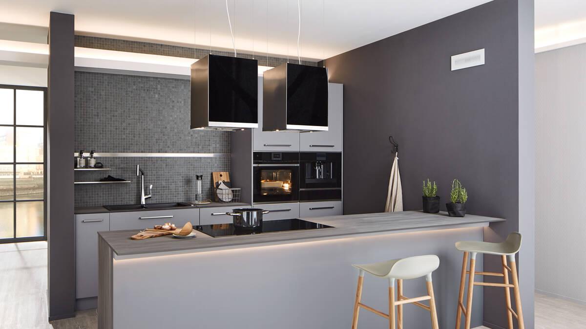 Trendthema Küchenfarbe, Ideen für eine graue Küche  hansgrohe CH