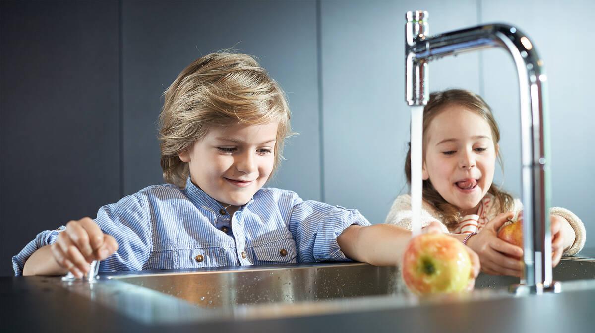 厨房水槽暗藏节能玄机。