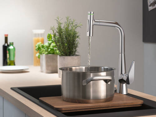 New faucet for kitchen efficiency.