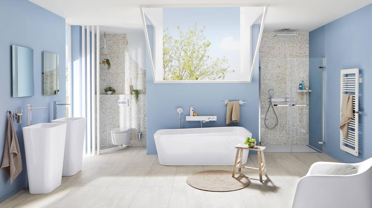 Grosses Badezimmer Im Nautic Design Strandurlaub Privat Hansgrohe De