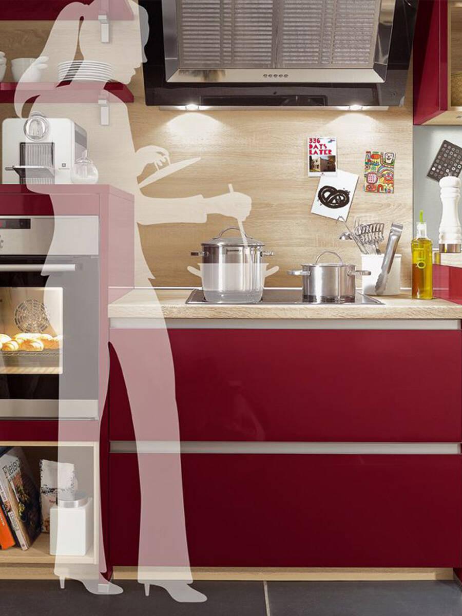 改进厨房人体工学设计的陈设建议。