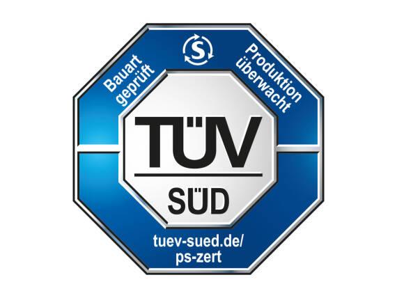 测试获准的TÜV SÜD密封安全,生产监督。