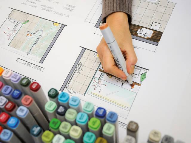浴室设计主题的汉斯格雅研讨课。