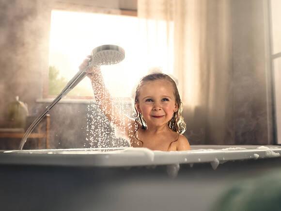 Einlauf mit duschbrause