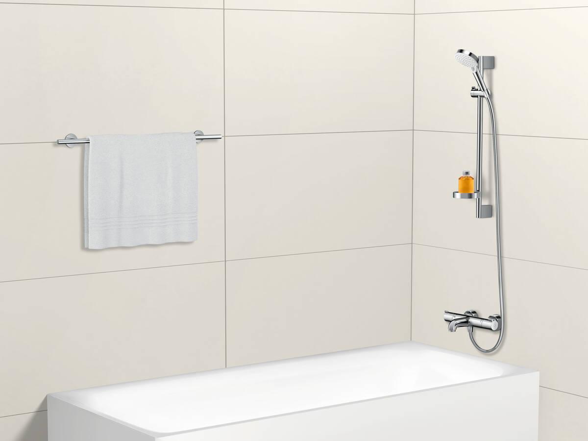 增加沐浴舒适感的明装浴缸恒温器。