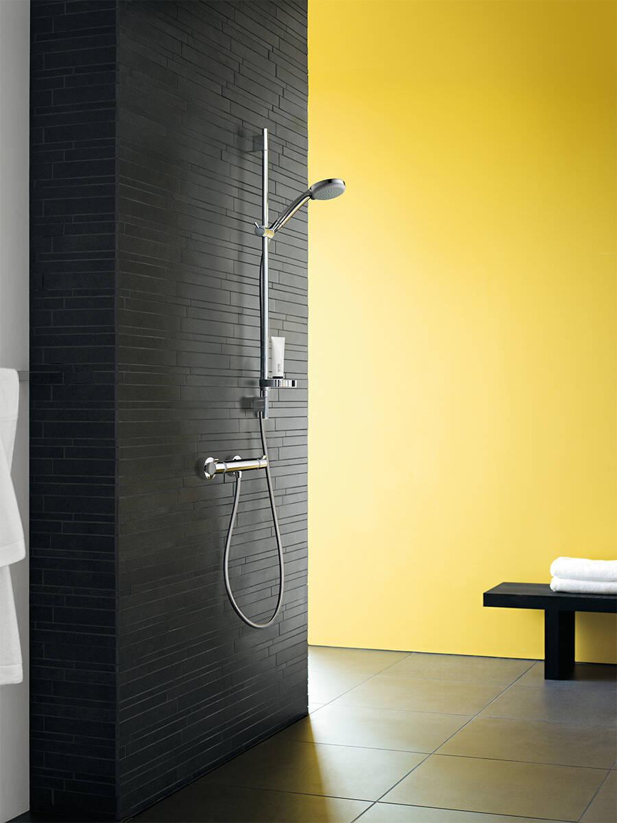 用于淋浴房的汉斯格雅明装恒温器。