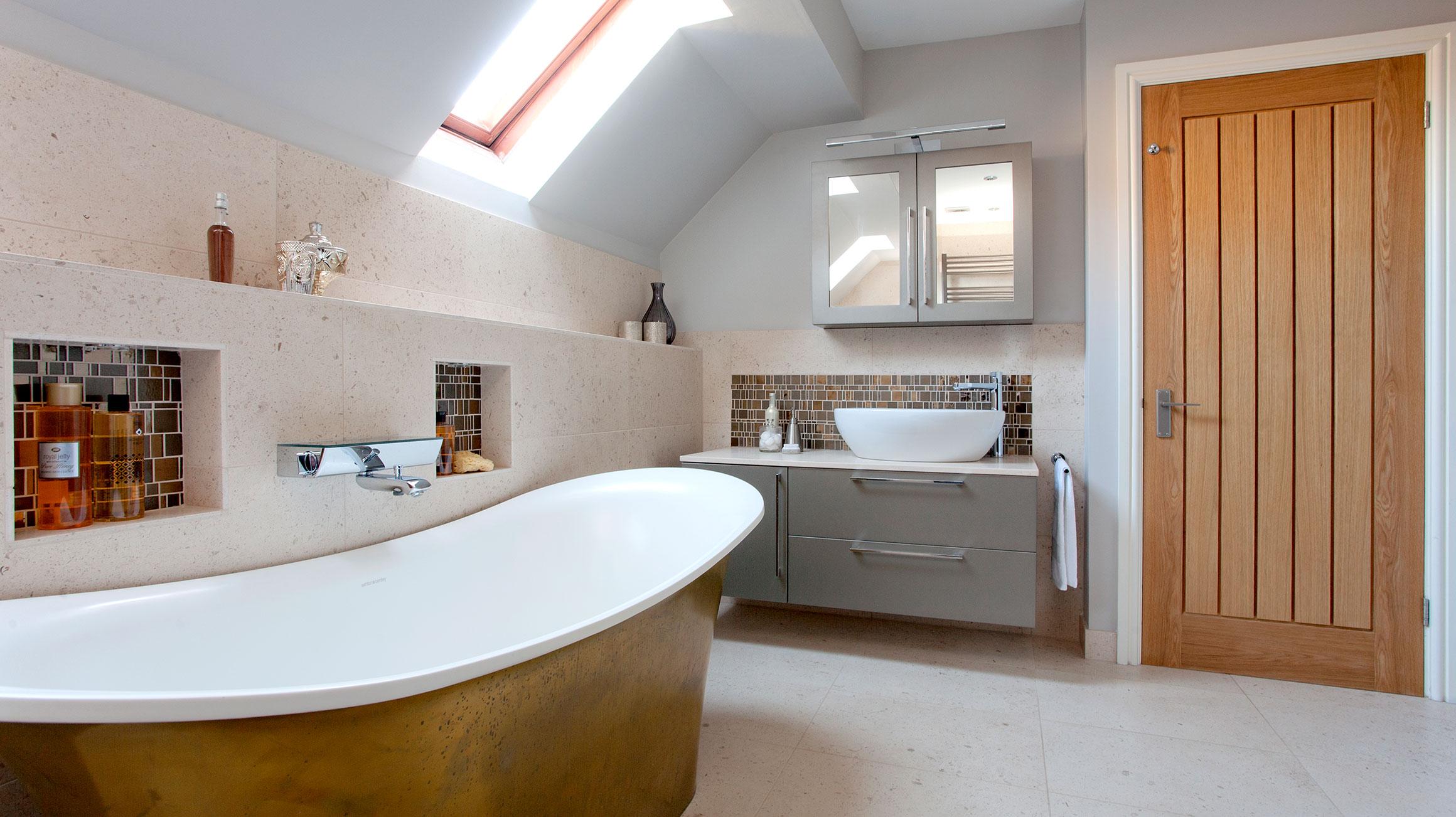 Bagni Da Sogno Foto : Originale bagno da sogno arredato con tonalità naturali hansgrohe it