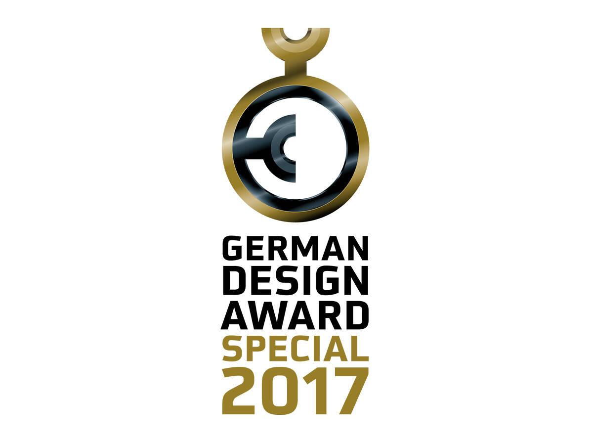 2017 年 German Design Award Special Mention(德国设计大奖特别关注奖)标志。