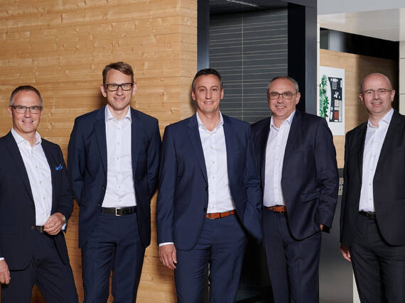 Top management: The executive board of Hansgrohe SE.