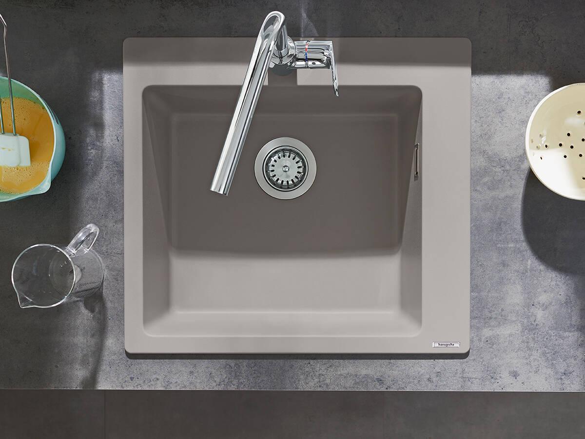 汉斯格雅花岗岩水槽:造型美观、优质、耐用。