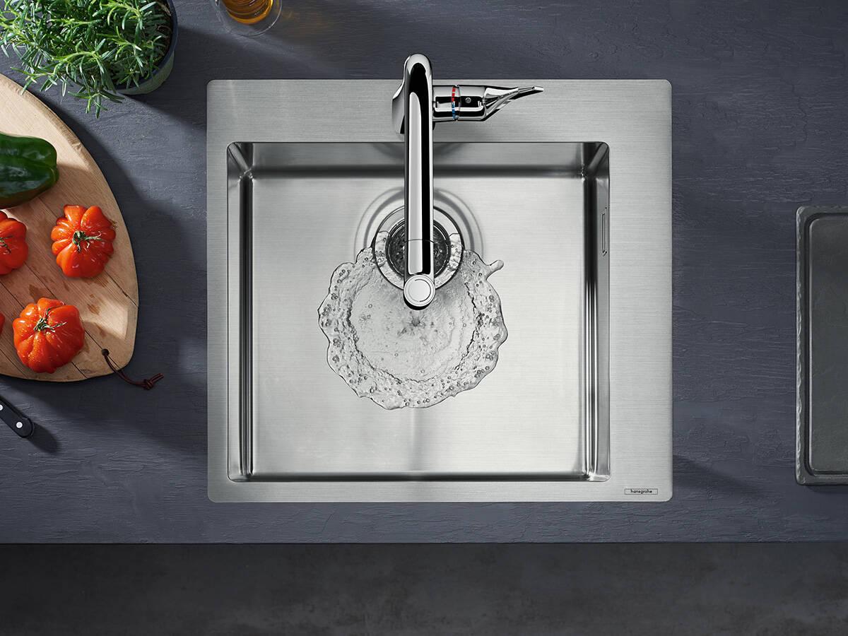 汉斯格雅新品:适合厨房的紧凑设计。