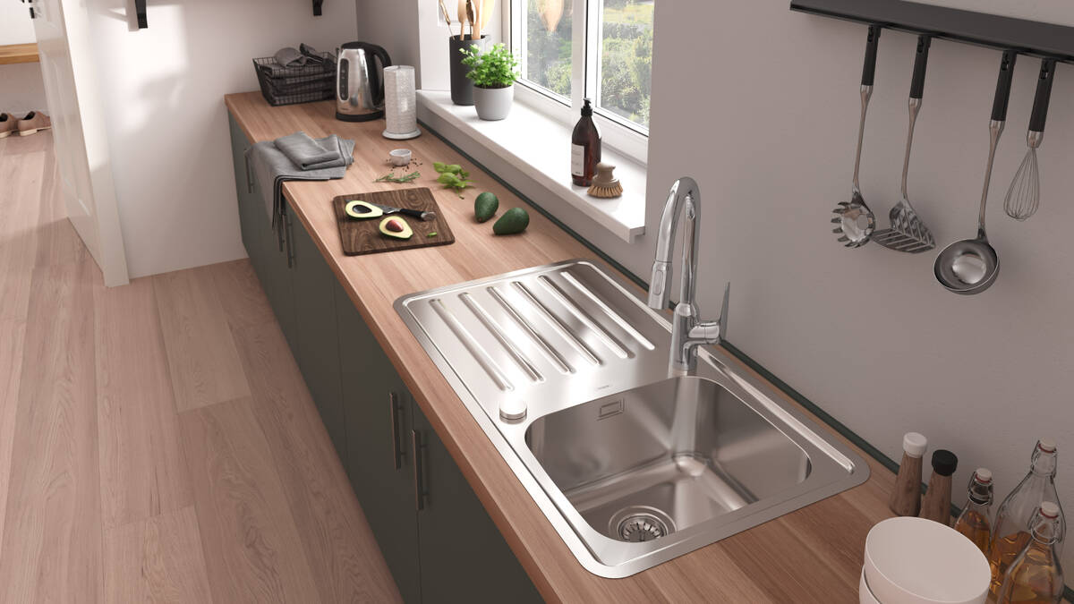 Innovation From Hansgrohe Stainless Steel Kitchen Sink Hansgrohe Int