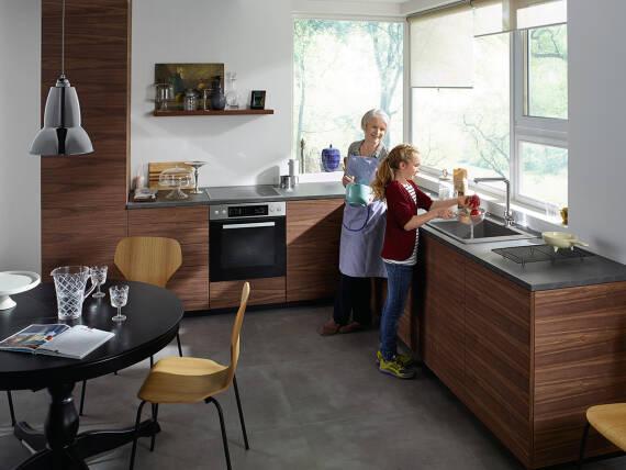 厨房小贴士:老少皆宜的人体工学设计厨房。