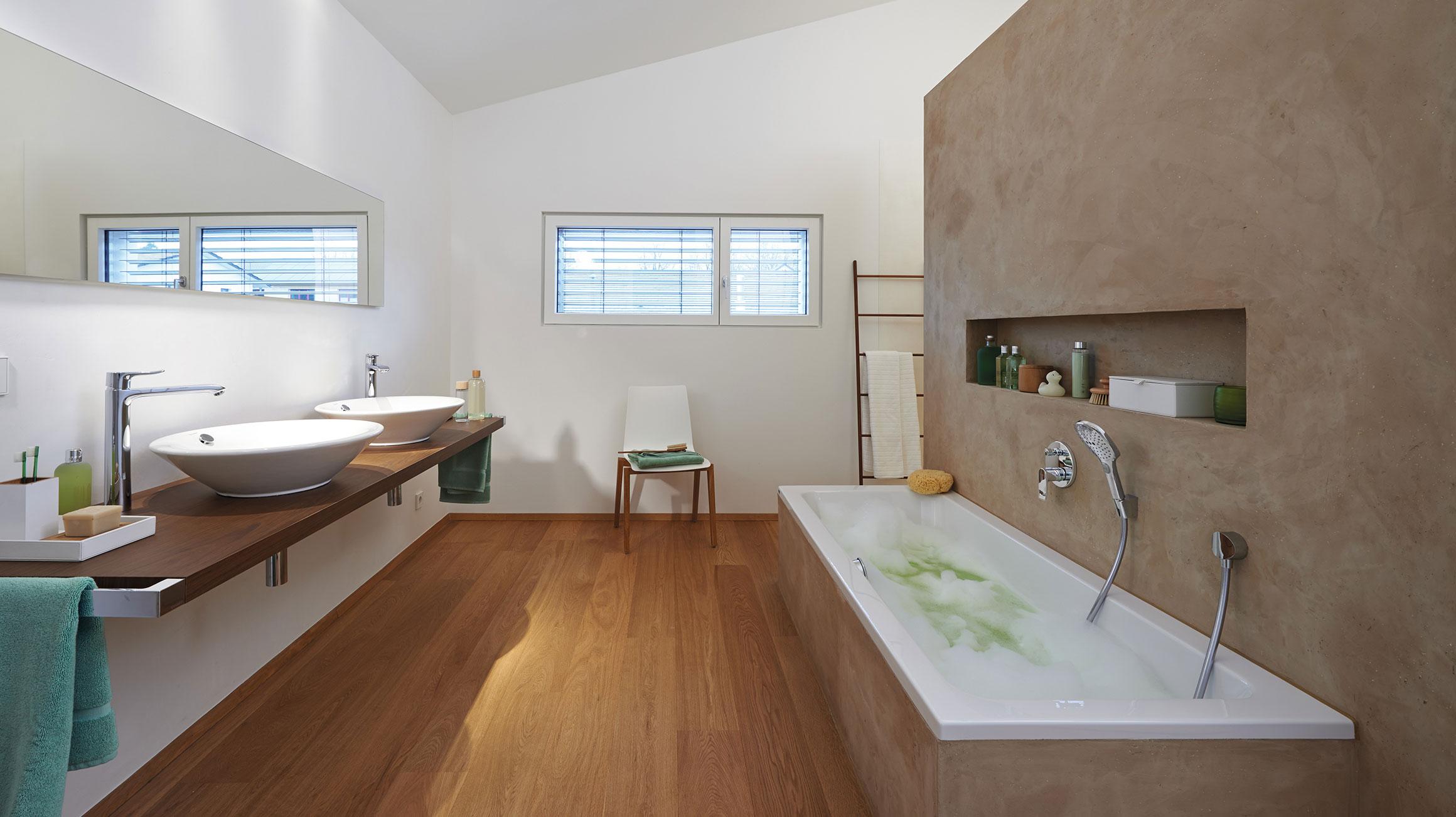 Arredare in modo moderno la stanza da bagno in stile scandinavo
