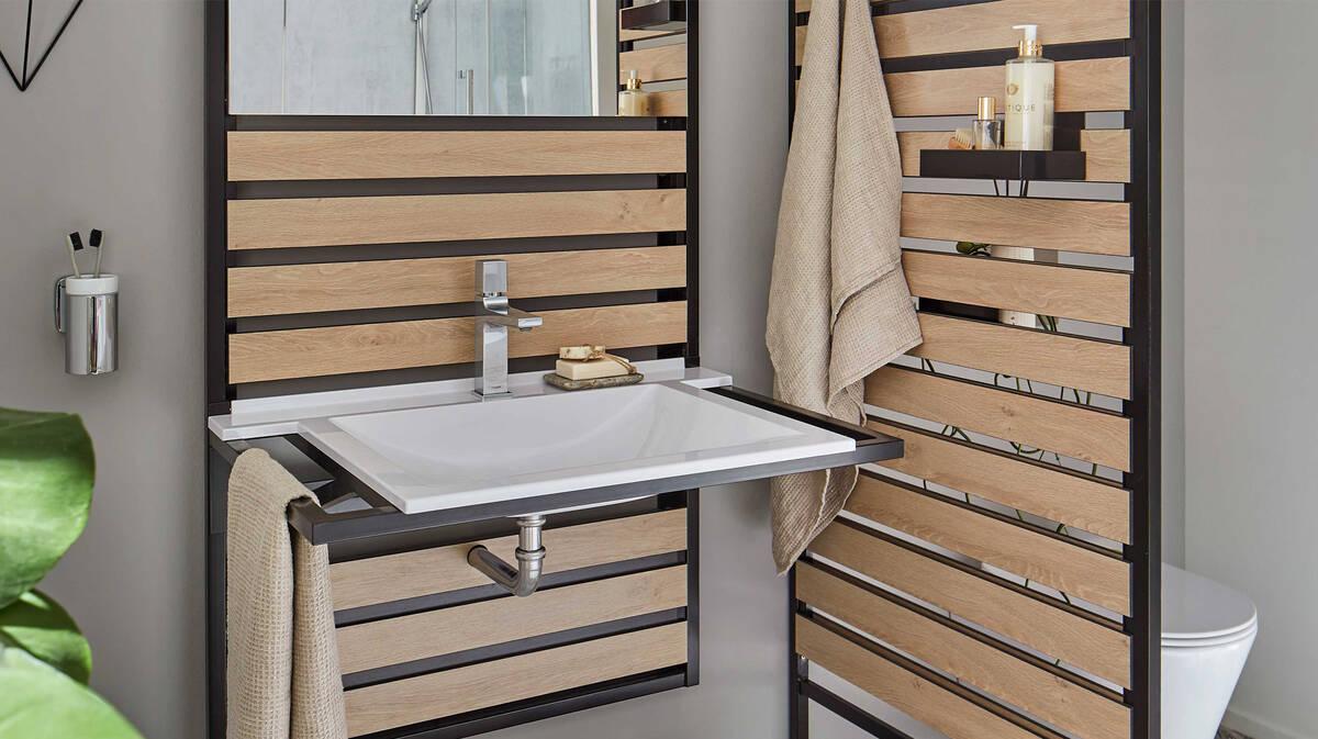 Kleines Badezimmer gemütlich und modern einrichten ...