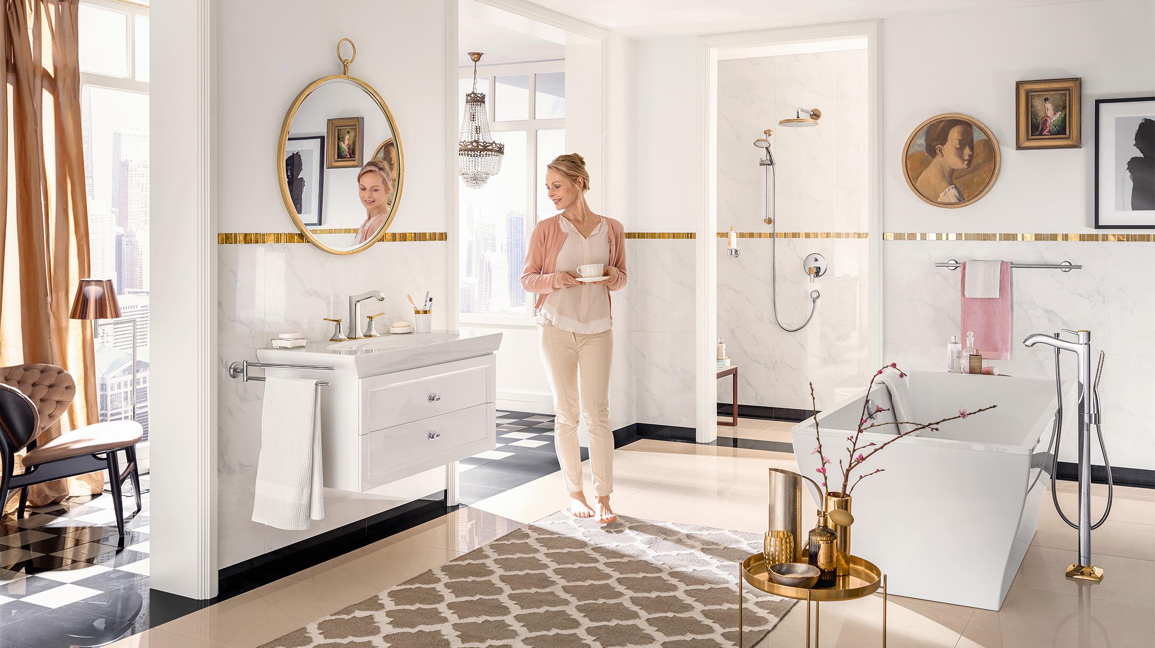 Rubinetteria Bagno Tradizionale : Allestire un bagno tradizionale stile classic hansgrohe it