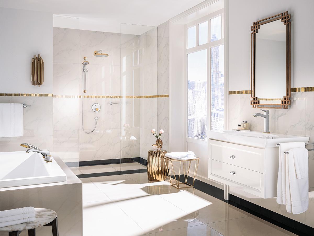 Traditionele Moderne Inrichting : De traditionele badkamer ingericht volgens de stijlrichting