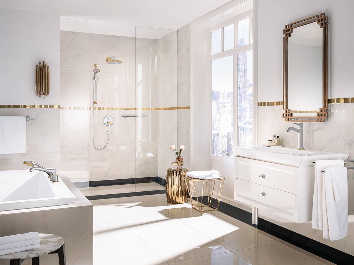 Cacher Trou Carrelage Salle De Bain conception d'une salle de bain traditionnelle : déclinaison