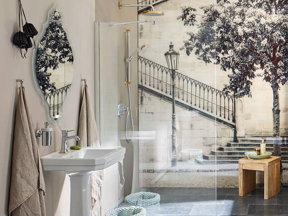 Vintage Bathroom With Stylish Furnishings Hansgrohe Int