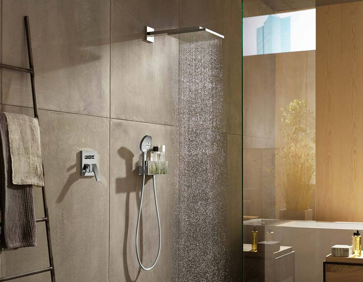 Shower Faucet For Two Showers And Concealed Installation
