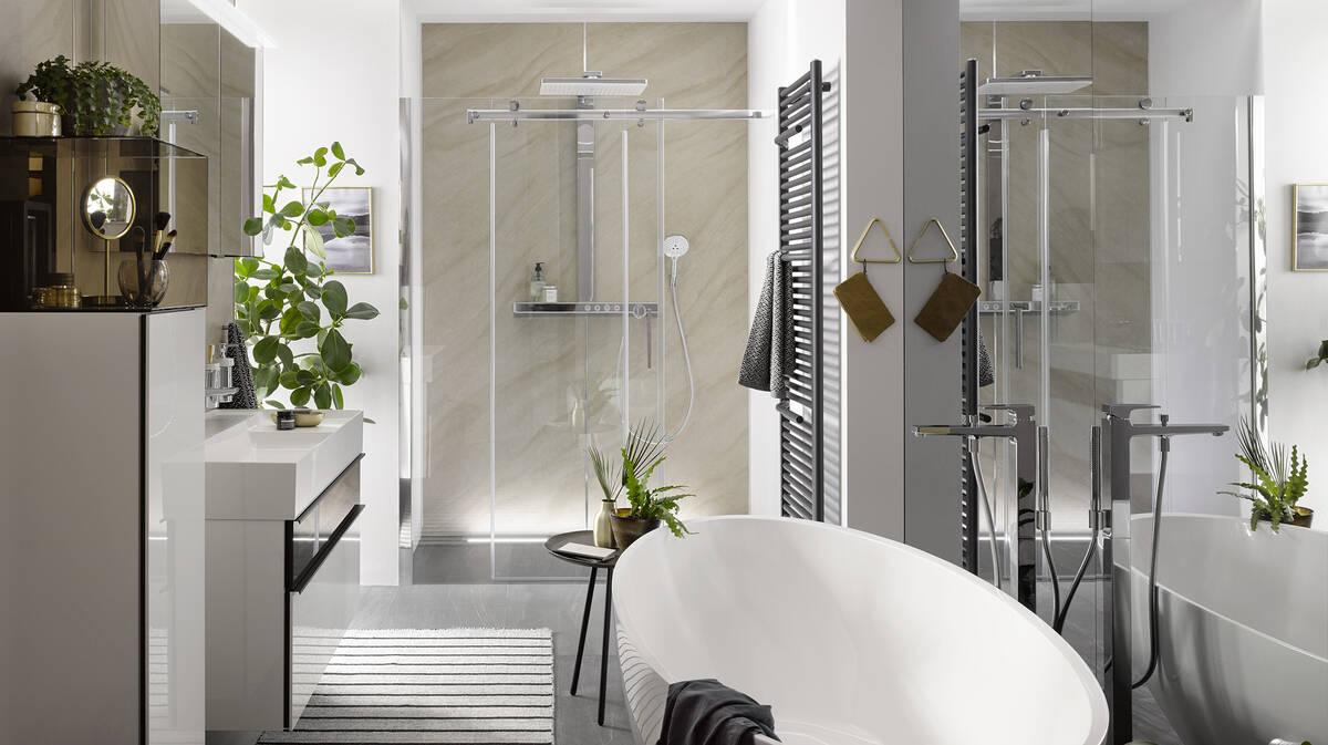 Hochwertiges Badezimmer Wohnlich Einrichten Hansgrohe De