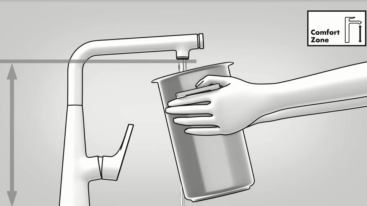 汉斯格雅舒适空间便于灌装高罐水。