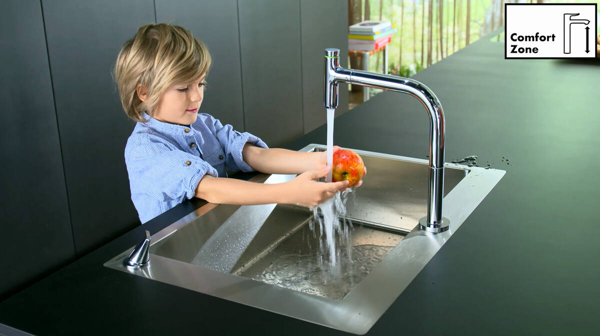 汉斯格雅创新:新水槽/龙头组合。