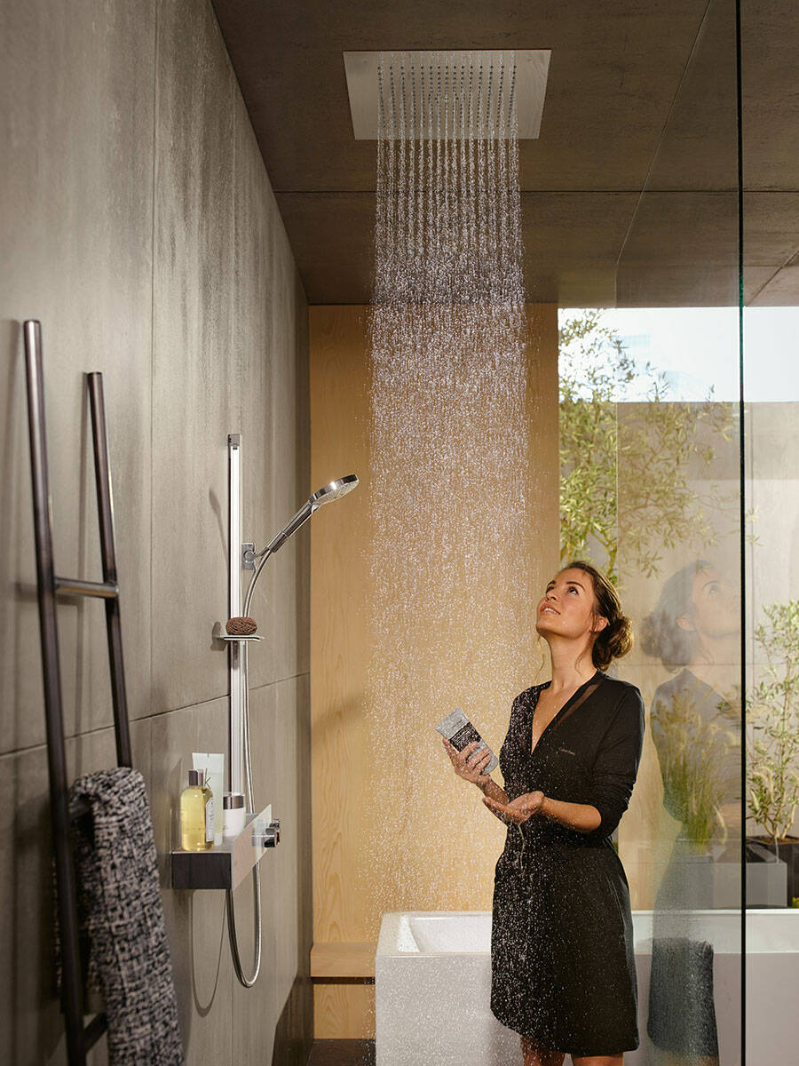overhead shower system