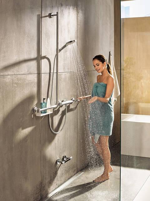 Conjunto de ducha de 65 cm de largo Elbe Barra de ducha de acero inoxidable Ducha de mano multifuncional