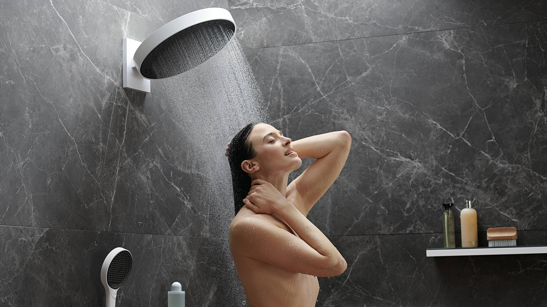 hansgrohe PowderRain in Rainfinity Kopfbrause.