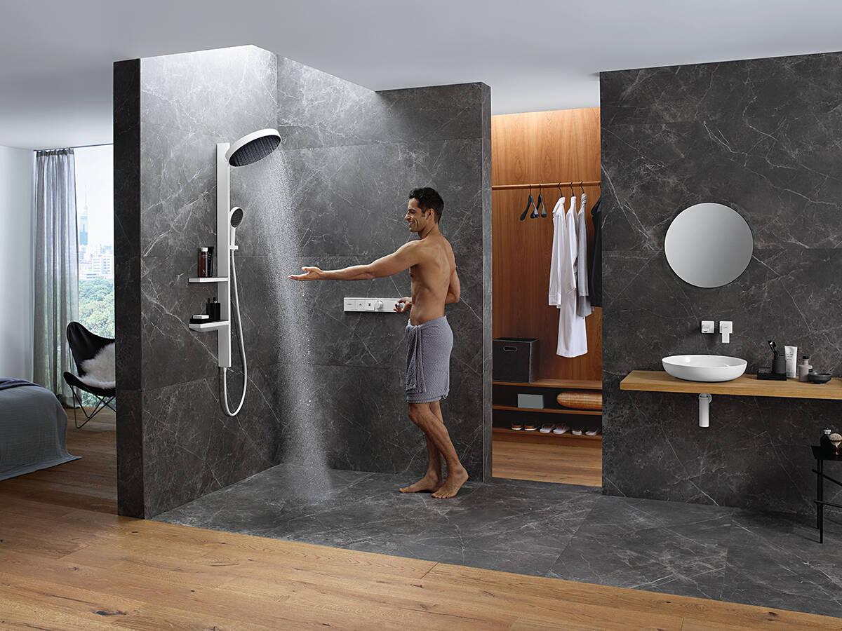 Rainfinity 系列广泛的淋浴产品线