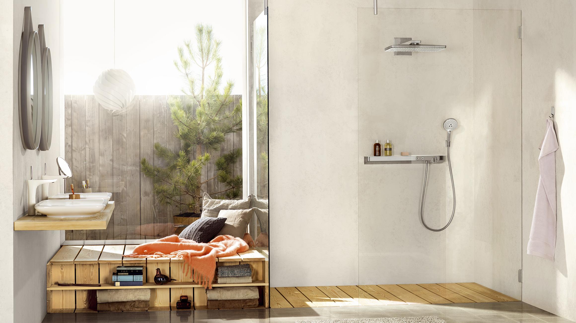 Glas Voor Badkamer : Trendy glas en transparantie in de badkamer hansgrohe be