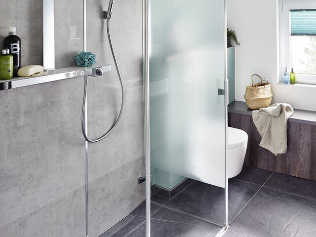 Smooth Transitions In The Bathroom With A Floor Level Shower