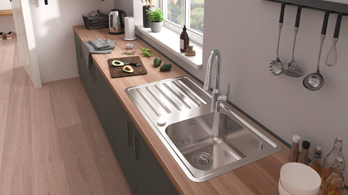 Innovation from hansgrohe: Stainless Steel Kitchen Sink